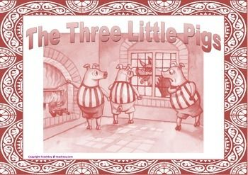 The Three Little Pigs Sequence Resource and Play. Suitable Preschool and Kindergarten.