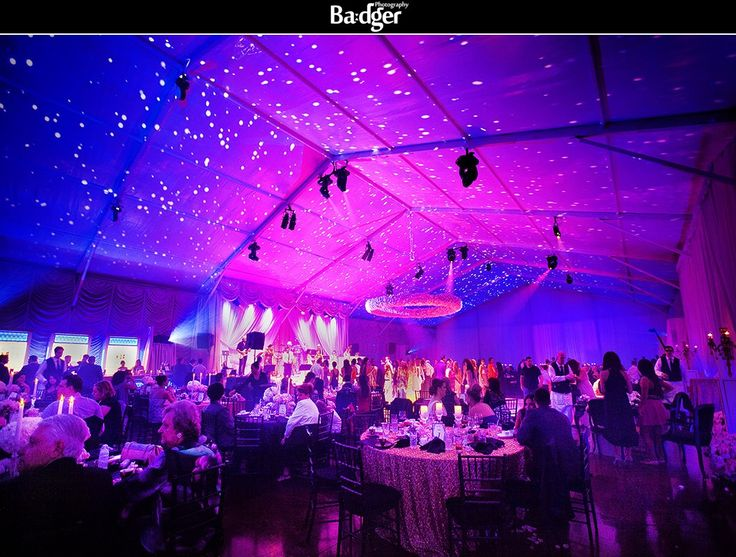 """Lavish """"tent"""" wedding in the West Island at 40 Westt restaurant - Montreal wedding photography by Badger Photography http://badgerphotography.ca"""