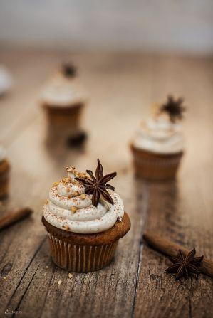 Chai Latte Cupcakes, chai cupcakes, Rezept Zimtcupcakes, Cupcake Rezept, Chai Cupcakes