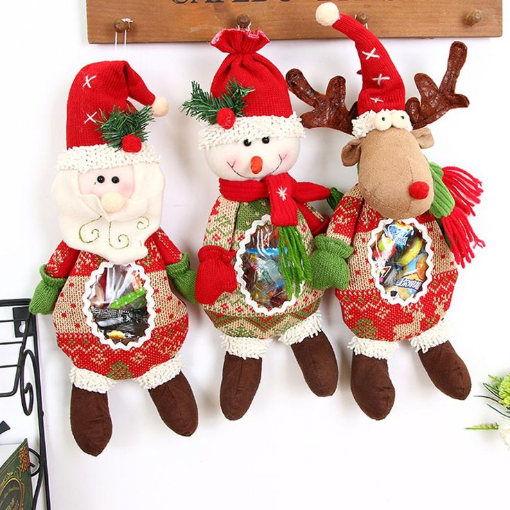 2017 Christmas Gifts Santa Claus Snowman Elk Candy Packaging New Year Decorations