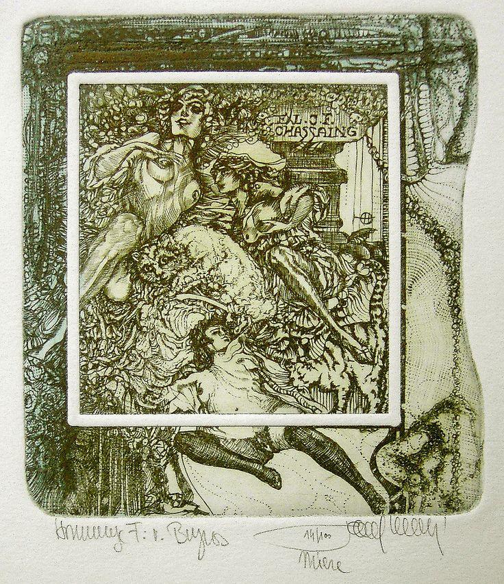 HLAVATY Pavel Technik / technique: C3 - Radierung, etching Bildgröße / image: ca. 13x11 cm