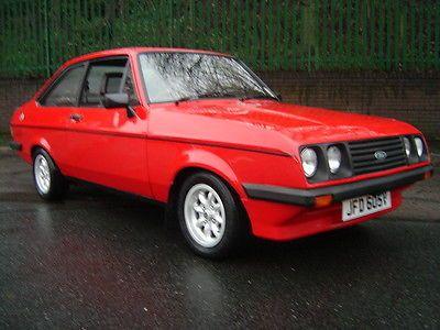 1979 FORD ESCORT MK2 RS2000 CUSTOM RED - http://www.fordrscarsforsale.com/3724