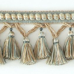 "DECORATIVE TRIM 3 1/4"" TASSEL FRINGE W/ GLASS BEAD AZU 287683: Color"