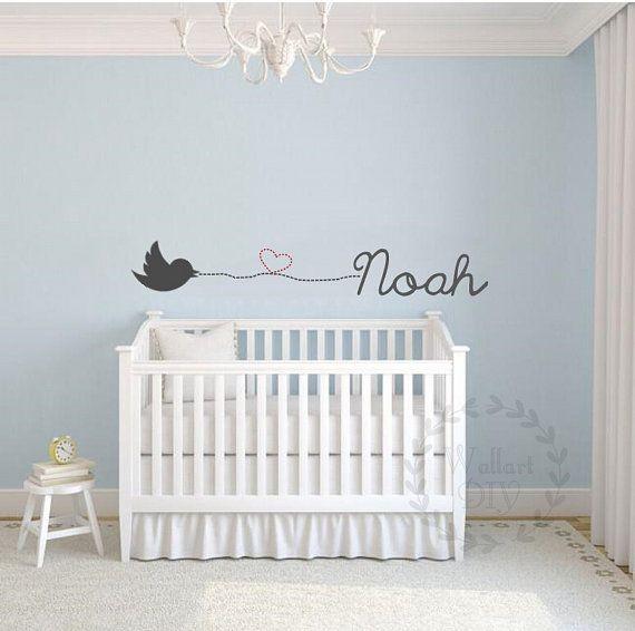 Nursery wall decals Name wall decals Baby boy wall by WallArtDIY
