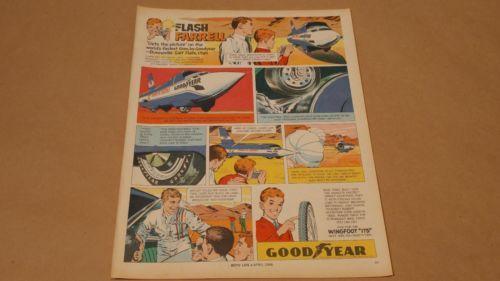 Vintage-1966-Goodyear-Bicycle-Tires-Print-Ad-April-Boys-Life-Magazine-RARE