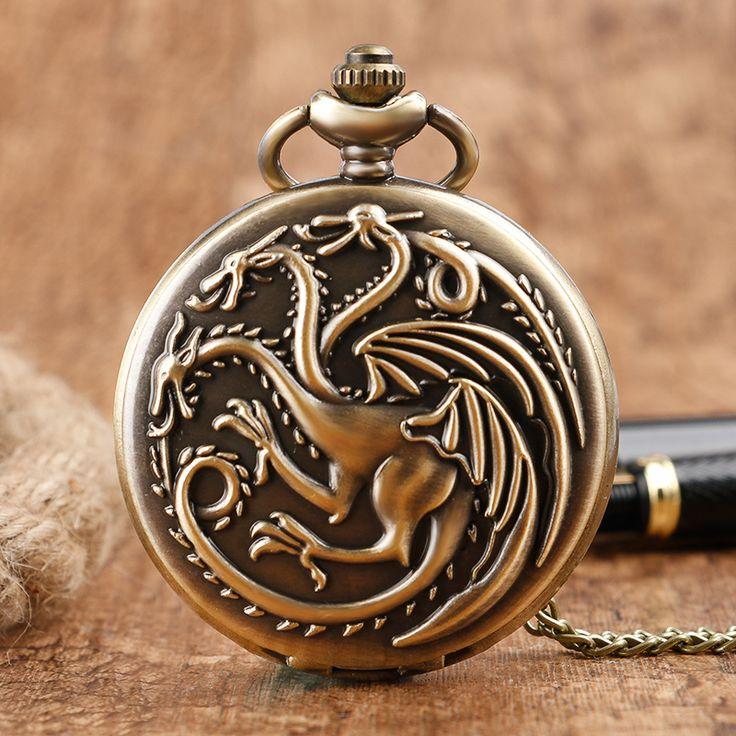 House Targaryen Vintage Quartz Pocket Watch //Price: $14.49 & FREE Shipping //     #t #Winterfell #westeros