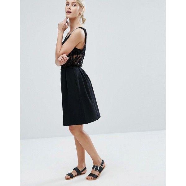 Storm & Marie Lisa Lady Skater Skirt (£55) ❤ liked on Polyvore featuring skirts, black, skater skirt, high-waist skirt, high waisted skater skirt, high rise skirts and high-waisted skirts
