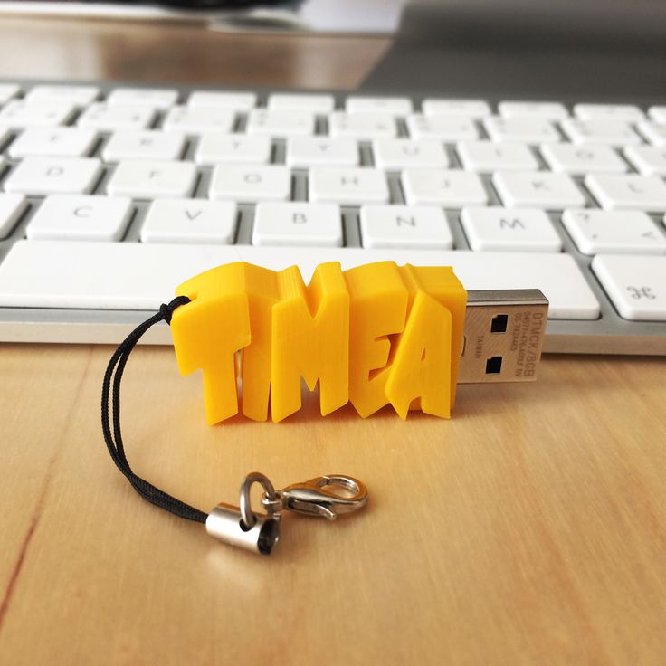 Stylish Flash Storage. Design yourself a customized, 3D printed USB Flash drive!