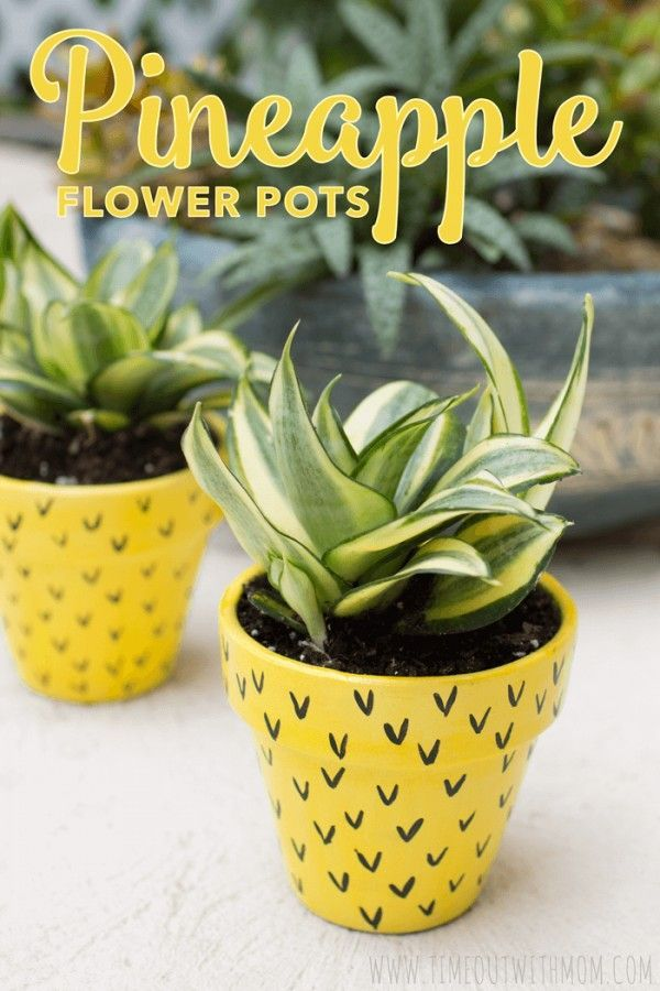 Check out this easy idea on how to make a #DIY pineapple flower pot #HomeDecorIdeas @istandarddesign