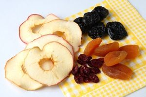Drying fruits on winter season