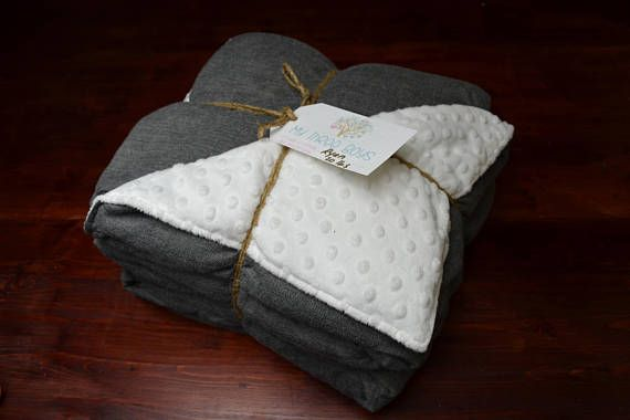 Weighted Blanket for Adults  Twin Size  Classic Gray