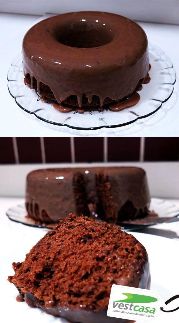 O Famoso bolo de chocolate, que água na boca! hm...