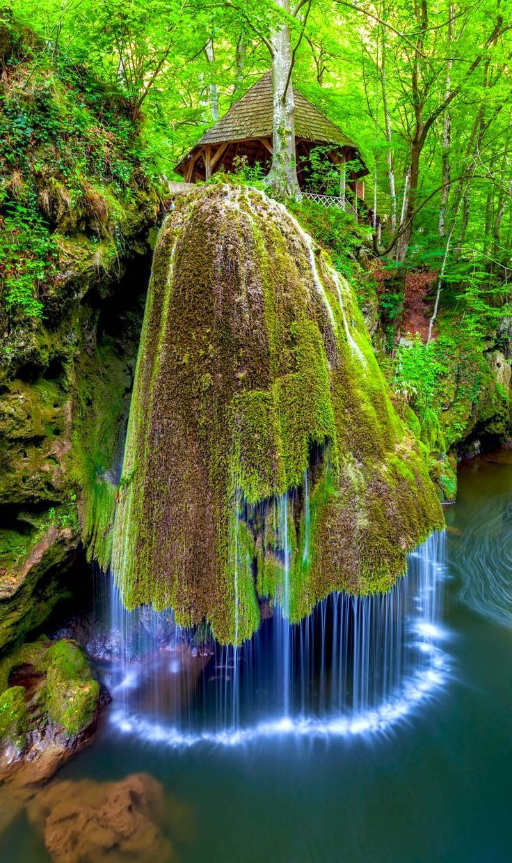 Most Beautiful Waterfall in the World. Bigar, Romania. Located in the nature reserve in Anina Mountains, the amazing waterfall is indeed a unique one.  #world