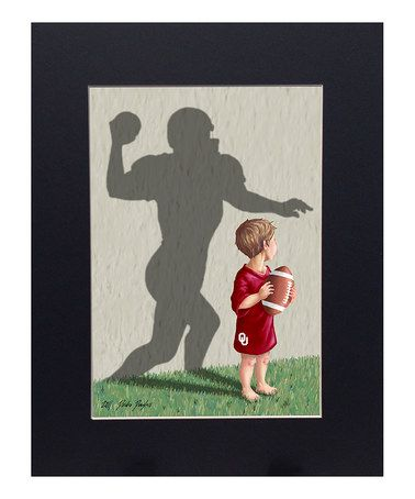 This Oklahoma Sooners Football Player Print is perfect! #zulilyfinds