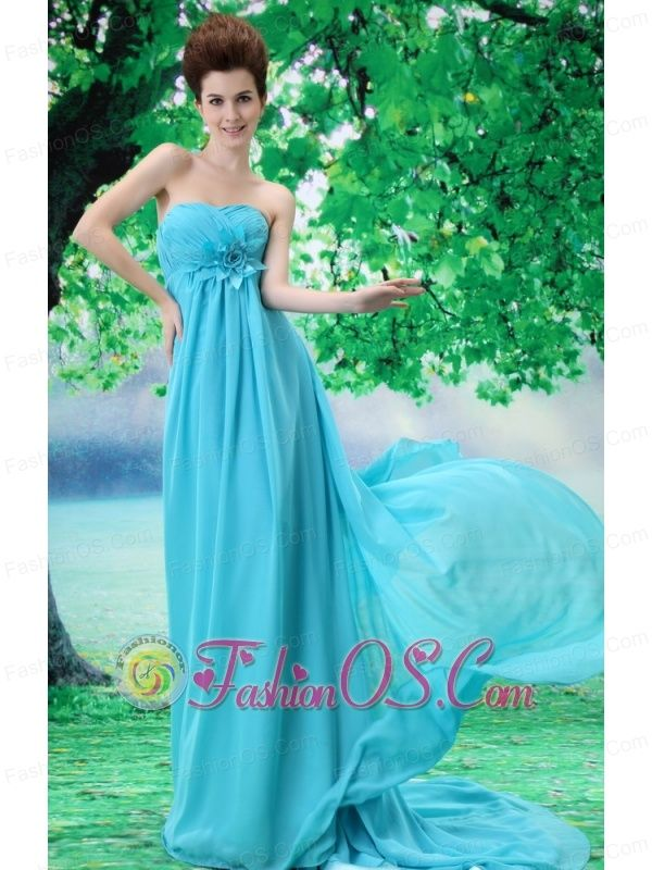 Custom Made Baby Blue 2013 Prom Dress Hand Made Flower and Ruch In Graduation- $133.26  http://www.fashionos.com  cheap plus size 2013 prom homecoming gowns | 2013 junior prom pageant dress | 2013 2014 prom cocktail dresses | 2013 sexy custom made prom cocktail dresses for sale | 2013 discount prom cocktail dress | 2014 2015prom evening dresses | elegant 2013 2014 new prom cocktail dress | 2013 new arrival prom dress | prom dress with dropped waist