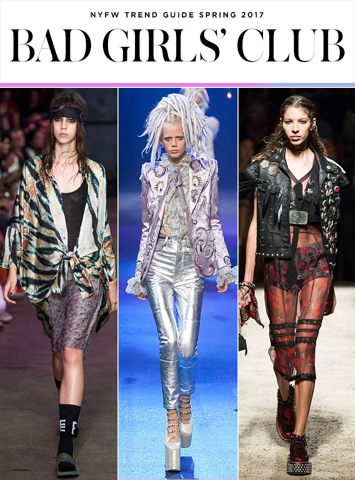Top 10 Trends from NYFW Spring 2017 | Edgy rock-inspired outfits with lots of leather | Baja East; Marc Jacobs; Coach  | Fashion Week SS17