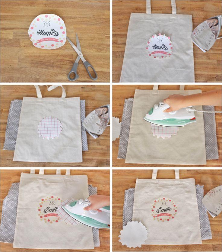 Goodies EVJF_Tutoriel pour tote bag papier transfert par Mes dernieres lubies