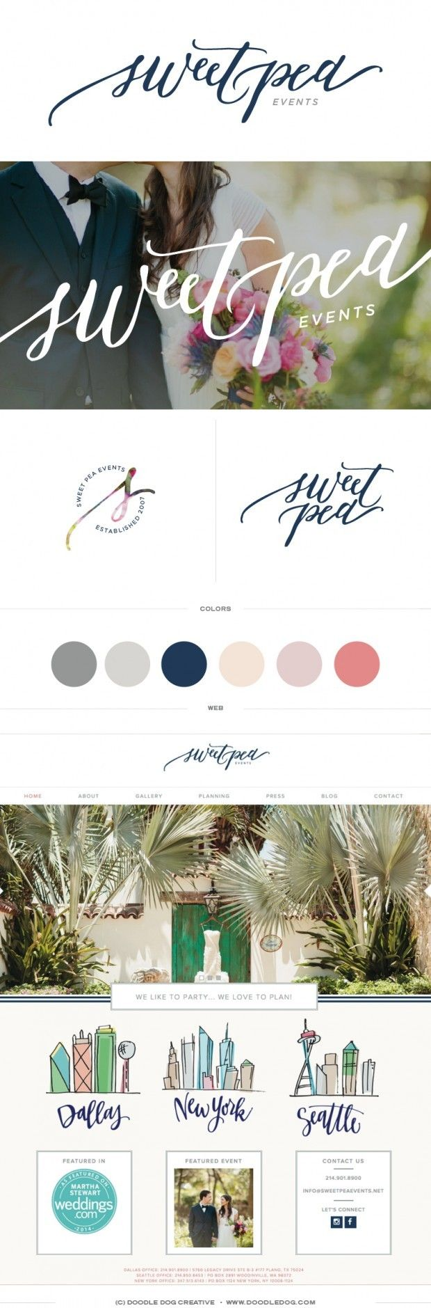 The beautiful, classy, new brand design for Sweetpea Events is here! If you've  been a fan for a while, you may remember seeing the original Sweetpea rebrand abo