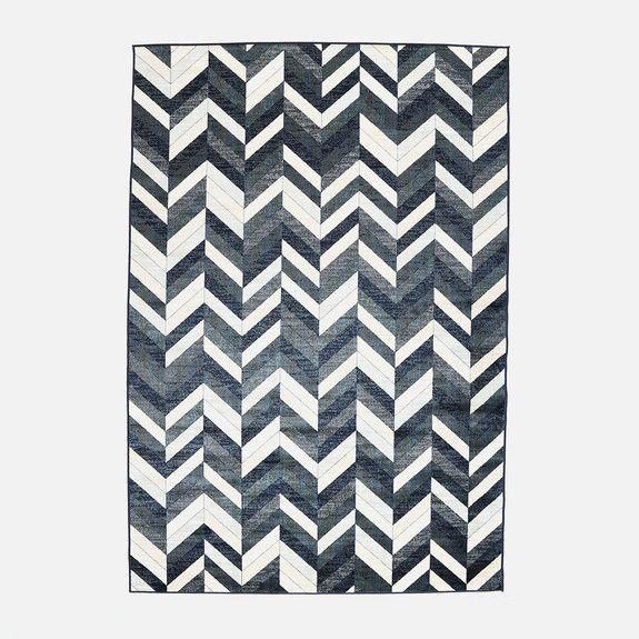 Hertex Fabrics - Herringbone Indigo Rug
