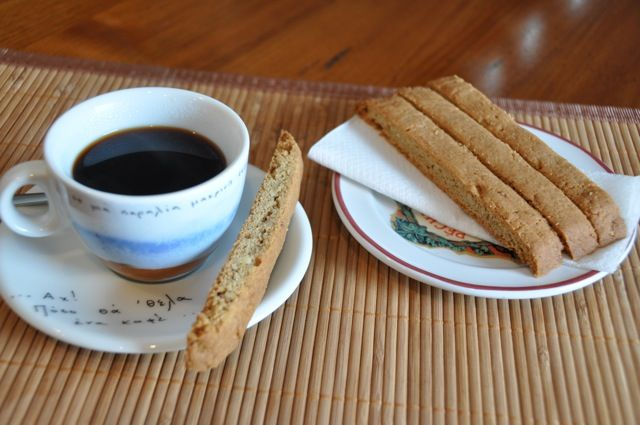 "Baking during the Lenten season can be a challenge when you are abstaining from key ingredients like butter and eggs. These tasty biscotti are made with ""Lenten-approved"" ingredients and are wonderful with coffee."