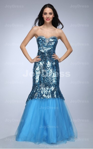 Shop a fancy Shinning Sequin Mermaid Sweetheart Floor-length Dress from our e-shop, it will be your wise choice. Come and be the star of your next party in one of our gorgeous dresses!£87.00