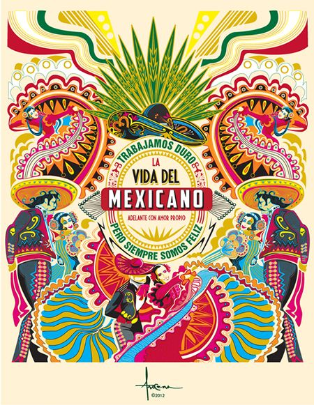 Mexico by Orlando Arocena #illustration #color #mexico