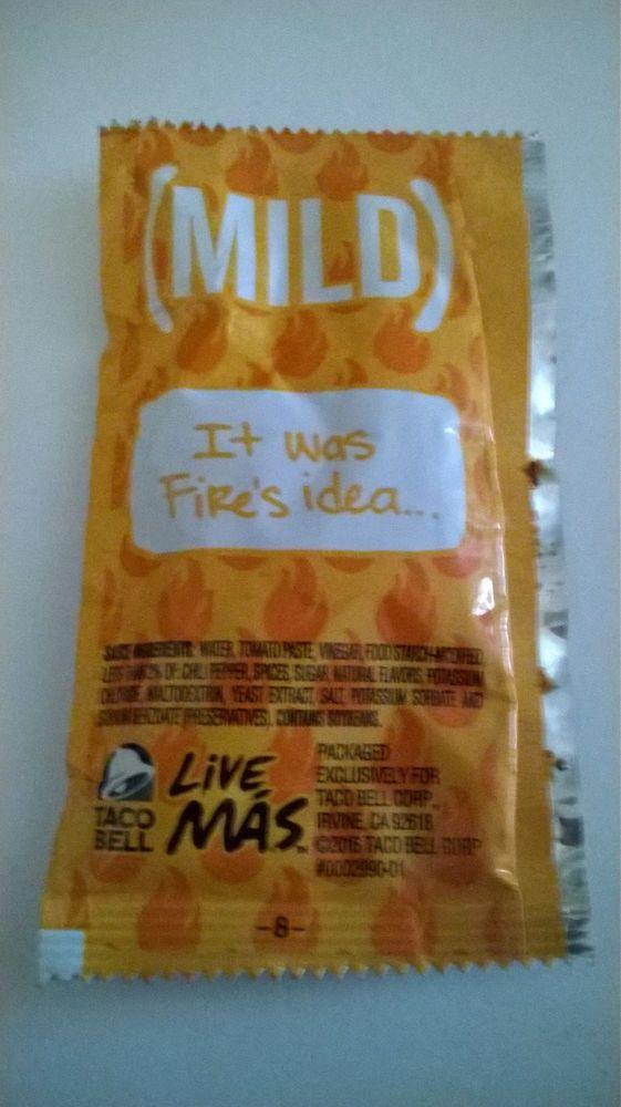 3d50efb6735 Taco Bell Mild Sauce packet