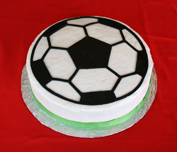soccer ball cake - too bad I don't have a cricut...