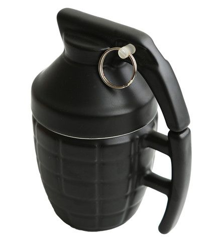 Grenade Mug Black | Cool Coffee Mugs | Cool Gift Ideas | HOTTT.COM