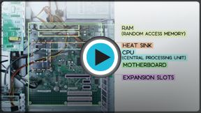A video and text explaining the inside of a computer. Perhaps useful for teacher information/background, a resource for students or to play in the classroom.