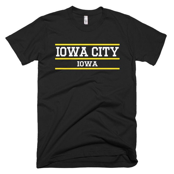 Iowa City Iowa Classic Bars T-shirt