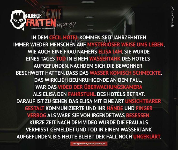 Der ungeklärte Fall von Elisa Lam - Link zum Video auf unserer Facebookseite in den Kommentaren #horror #horrorfakten #fakten
