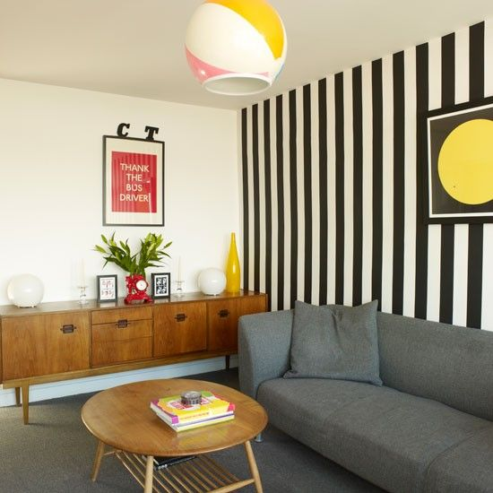 Striped Wallpaper | Small Living Room Ideas | Living Room | PHOTO GALLERY |  Style At Part 65