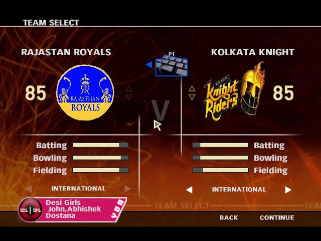 IPL VS ICL 2009 PC Game Screenshots