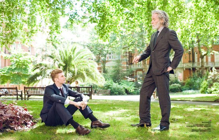 Aiden Shaw & Matt King are Father & Son for Harper's Bazaar China