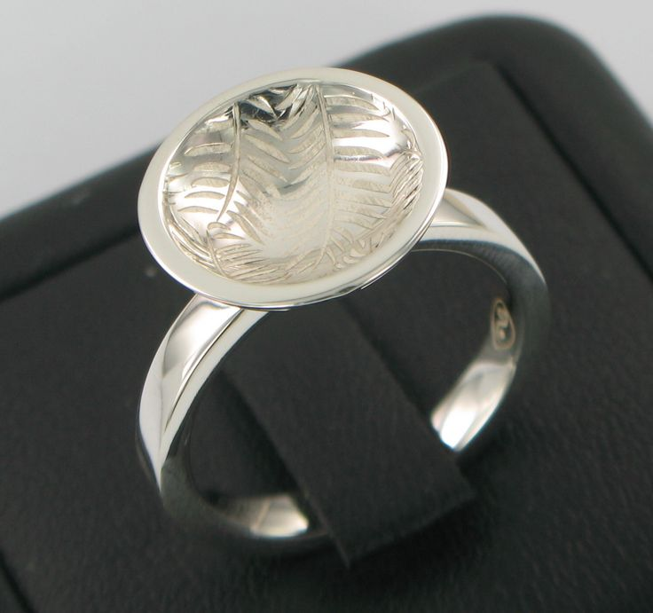 Palm Font Ring s/s