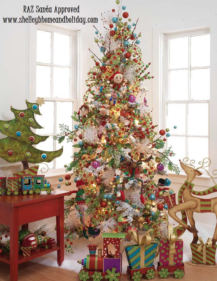 153 best images about christmas trees on pinterest trees for Whimsical decor