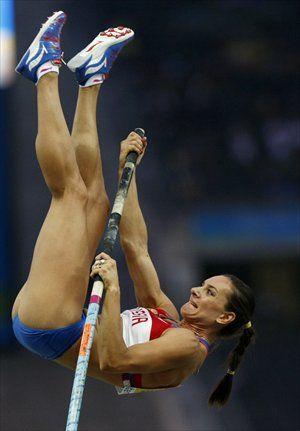 Yelena Isinbayeva, World Record Woman's Pole Vault 5.06M