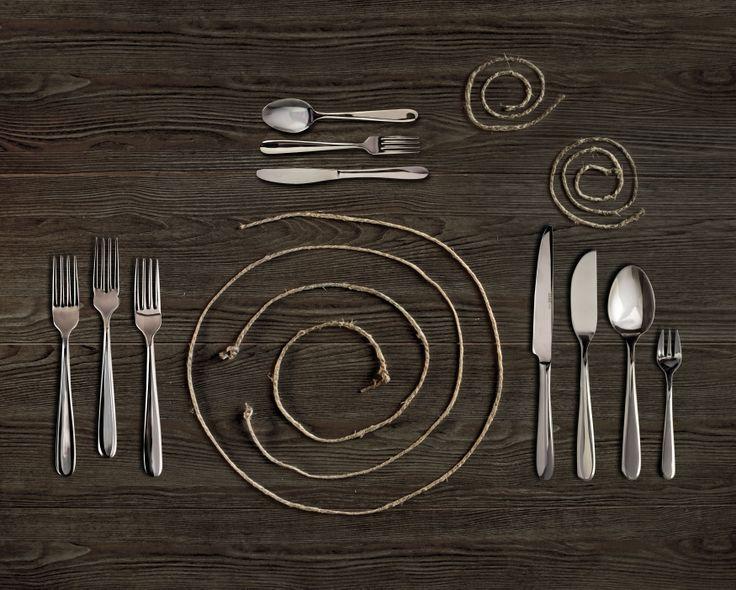 Stunning contemporary cutlery by Abert s.p.a. Broggi, Italy