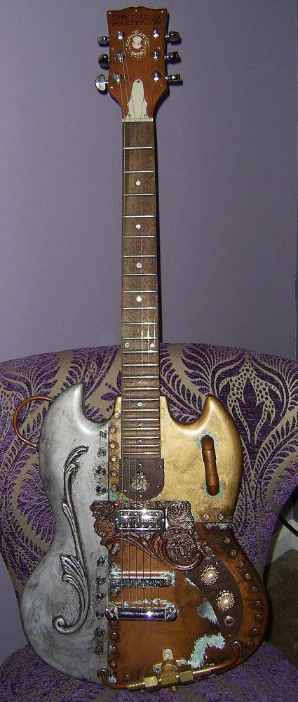 Image Gallery: Steampunk Guitars - Guitar-Muse.com