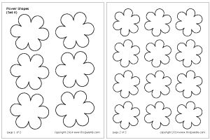 Flower Shapes Set 6