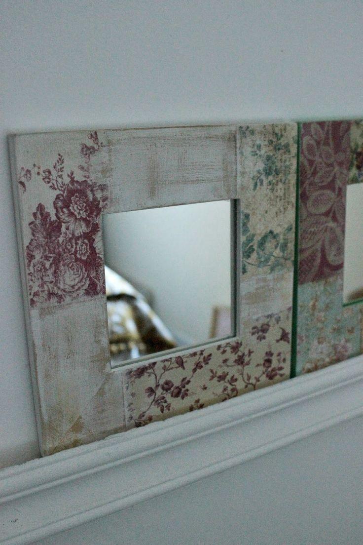 Espejitos cuadrados decorados.                               Medidas: marco 16 x 16 cm, espejito 8 x8 cm     VENDIDOS