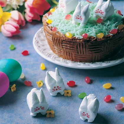 Easy to make marshmallow fluffer bunnies!