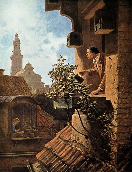 Carl Spitzweg-Im Dachstübchen
