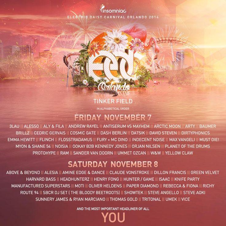 EDC Orlando 2014 Lineup, Tickets | Nov. 7-8 | Tinker Field