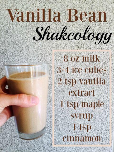 My FAVORITE Café Latte Shakeology recipe. Tastes like a Starbucks Vanilla Bean Frapp!