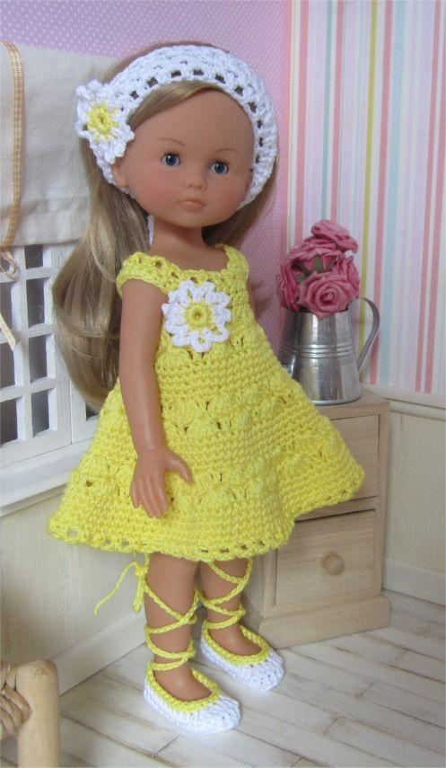 82- FICHE PATRON Tenue Paquerette au crochet pour poupée Les Chéries de Corolle ou Paola Reina : Jeux, jouets par atelier-crochet