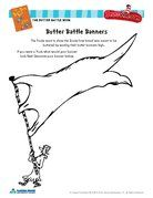 "Dr. Seuss ""The Butter Battle Book"" Banner Fill-In Activity"