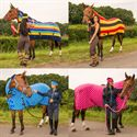 Awesome fleece rugs in great patterns- for everyday use or at shows!