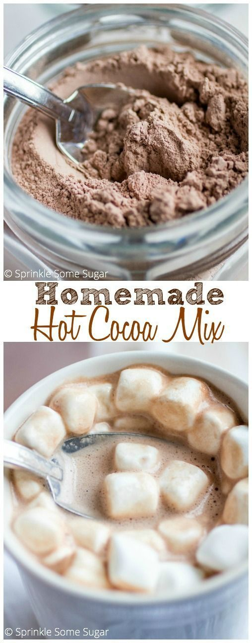 Homemade Hot Cocoa Mix - This makes the richest, creamiest hot chocolate you'll ever have.